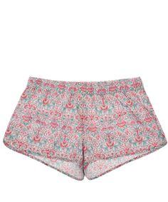 Liberty London Pink Lodden Print Cotton Sleep Shorts $61.63