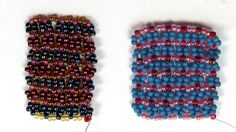 Free Bead Patterns and Ideas : Snowflake stitch exploration - Learn How