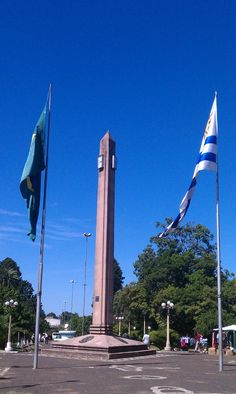 The Border of Brasil and Uruguay. Santana do Livramento and Rivera.   An open border; can't we all get along like this?
