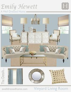 Living Room Online Design Board by Emily Hewett of A Well Dressed Home Interior Design Boards, Home Interior, Living Room Furniture, Living Room Decor, Dining Room, Family Room Design, Formal Living Rooms, Living Room Inspiration, Decoration