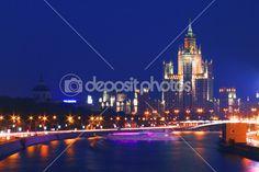 Moscou de noite — Imagem de Stock #3728710