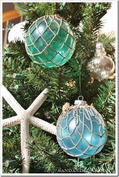 DIY Glass Float Ornaments