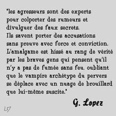 Rumeur, manipulation G. Lopez