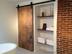 Industrial Barn Door Hardware and Barn Doors - contemporary - bathroom - salt lake city - Rustica Hardware