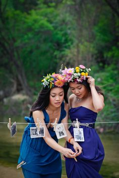 two heads are better than one.  headdresses by mibellarosa designs. photo by ikigai photography.
