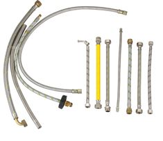 A metal hose is a flexible metal line element. There are two basic types of metal hose that differ in their design and application: stripwound hoses and corrugated hoses. Stripwound hoses have a high mechanical strength (e. Flexible Metal Hose, Stainless Steel Alloy, Braided Hose, Water Tube, Metal Pipe, Iron Wire, Abh, Oil And Gas, Flexibility