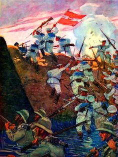 Austrian sailors storming the Taku Forts during the Boxer Rebellion