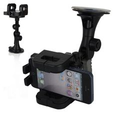 Black Car Adjustable Universal Cell Phone Bracket Holder for iPhone iPod Samsung