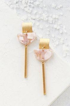 Rhea Earrings | Santorini Sunset Collection Gold Statement Earrings, Dangle Earrings, Art Deco Jewelry, Jewelry Design, Jewelry Photography, Product Photography, Photography Ideas, Gifts For My Sister, Geometric Jewelry