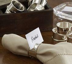 Caterer's 12-Piece Napkin Ring/Place Card Holder Set #potterybarn