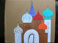 wk 10 art Having Fun at Home: 3 Russian Crafts for Kids including dome templates for kids to design Russian buildings. My advice for making dome templates; fold them in half while cutting to achieve symmetry. Projects For Kids, Kids Crafts, Art Projects, Arts And Crafts, My Father's World, We Are The World, Russian Culture, Russian Art, Around The World Theme