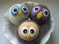 Wool Felt Balls Dryer Balls Toy Decor  Set by andersonsawedoffacre