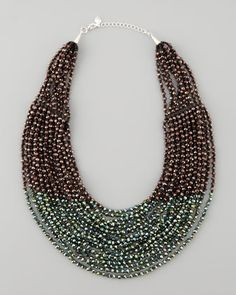 Beaded Multi-Strand Necklace, Purple/Green by Nakamol at Neiman Marcus.
