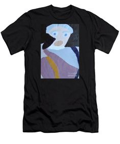 Patrick Francis Designer Slim Fit Black T-Shirt featuring the painting Portrait Of A Lady 2014 by Patrick Francis