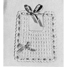 Not so grand of a picture, but a really cute crocheted baby bib in shell stitch.  AND, the pattern is a FREE DOWNLOAD at Todays Treasure Pattern Shop.