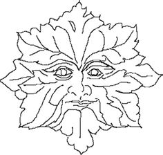 green man | Green Man Colouring Pages