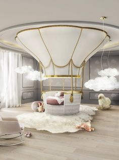 Fantasy Air Balloon by CIRCU #circu #magicalfurniture #bedroomdesign Discover more at www.circu.net