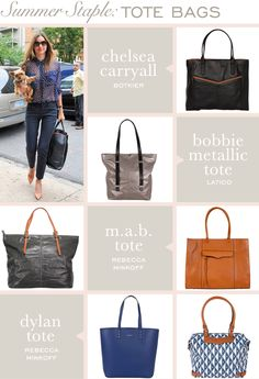 Totes for a stylish summer! @Layla Grayce #laylagrayce #totes #lgblog #RebeccaMinkoff