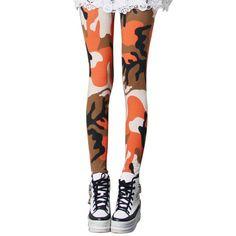 Camouflage Leggings Women Compression Pants Crossfit Punk Rock Joggers