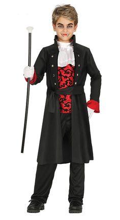 elegant vampire boys costume