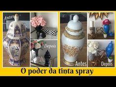 Antes e depois dos potes- vasos- o poder da tinta spray - YouTube