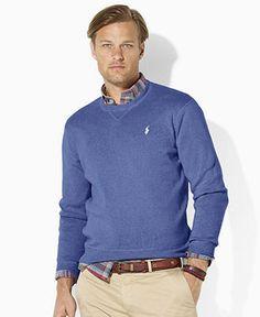 Polo Ralph Lauren Sweater, Combed Crew-Neck Sweater - Mens Sweaters - Macy\u0026#39;s