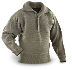 63c53d6c13 Dachstein Woolwear Military Wool Pullover 1410 - Sweater Chalet Wool  Cardigan