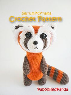 amigurumi pattern crochet  red panda ferret PDF guide. $3.75, via Etsy.