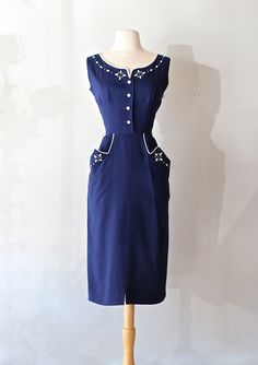 Sweet 1950s Western Styled Dress, available at Xtabay.