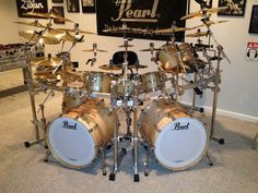 Pearl Double Bass Drums | Pearl masters double bass kit birch