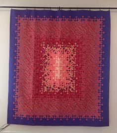 Blooming Nine Patch Bed Quilt by MelissaSewandSew on Etsy, $450.00