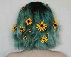 Image de hair, flowers, and grunge