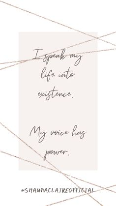 """"""" I speak my life into existence. My voice has power"""" Inspirational Quotes For Women, Motivational Quotes, Love Affirmations, Stress Relief, Woman Quotes, Law Of Attraction, The Voice, My Life, Love You"""