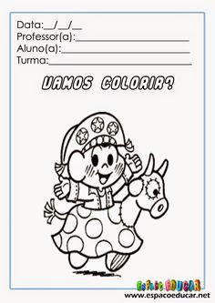 atividade+colorir+turma+da+mônica+folclore+desenho+pintar+www.espacoeducar+(13).jpg (1131×1600)