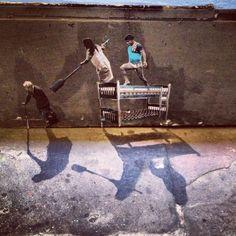 street art by Pablo Delgado – repinned by Tempo Pilates, the way creative people sweat! www.tempopilates.com
