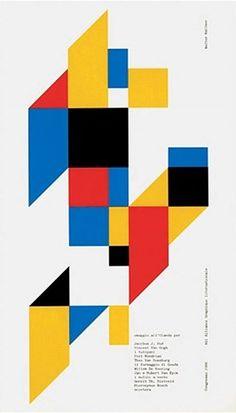 Walter Ballmer, Print made for the Amsterdam AGI Congress, 1986