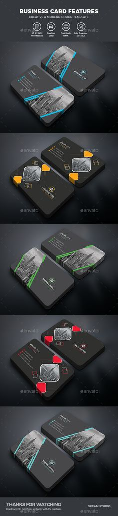 #Business Card #Bundle - Business #Cards Print Templates Download here:  https://graphicriver.net/item/business-card-bundle/20423110?ref=alena994