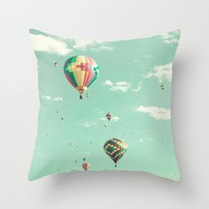 Pillow cover,turquoise pillow,nursery decor,covers,love pillow,blue,orange,red pillow,colorful pillows,hot air balloon decoration,pink