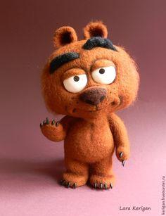 Купить Медвежонок Маллой - коричневый, медвежонок, мультяшки, мультперсонаж, герой мультфильма, бриклберри, медведь, малой