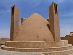 Traditional Roof and Badgir in Persia by dynamosquito, via Flickr