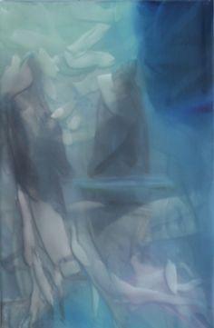 Marvin Aillaud - Silhouettes fragmentées #5 - 2014 - Huile sur toile - 60 x 92 cm #lamicrogalerie #marvinaillaud #peinture #artcontemporain