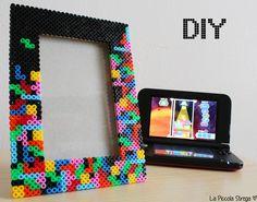 Cadre #Tetris en perles #Hama - www.lapiccolastrega.fr #LaPiccolaStrega