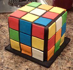 Rubik's Cube cake!
