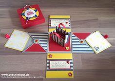 Überraschungsbox Explosionsbox Geschenkgutschein Geldgeschenk Geburtstag Einkaufsgutschein