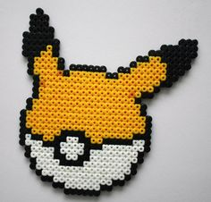 Pikachu Pokemon Pokéball Hama Perler Bead Sprite