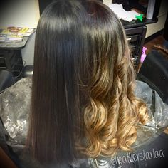 Golden beige balayage ombre