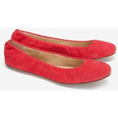 See By Chloe Ballet Flats: Red ($139) ❤ liked on Polyvore