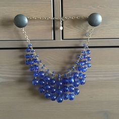 J.crew Necklace Really cute blue necklace from Jcrew J. Crew Jewelry Necklaces