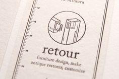 retour / Namecard by masaomi fujita, via Behance