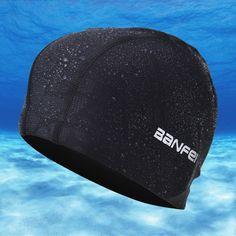 2016 Nuevas Orejeras Impermeable Gorro de baño de Nylon Deportes Swim Piscina Bathing Caps para Los Hombres y Las Mujeres